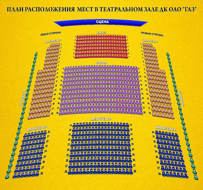 Схема большого театрального